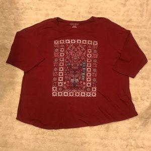 Lucky Brand mix floral t-shirt Size 3X